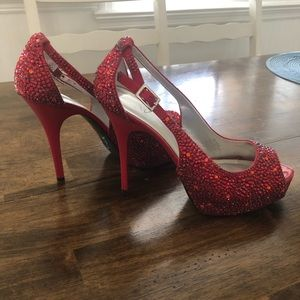 Custom Red Crystal Heels 👠